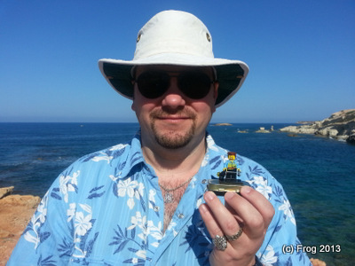 David, with a little friend. Pafos 2013