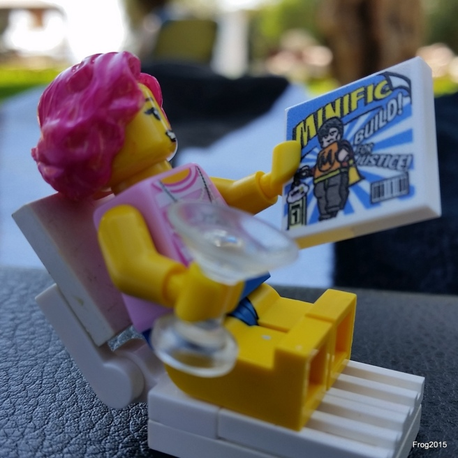 A comic, a cocktail - what more could a LEGO girl ask for ?