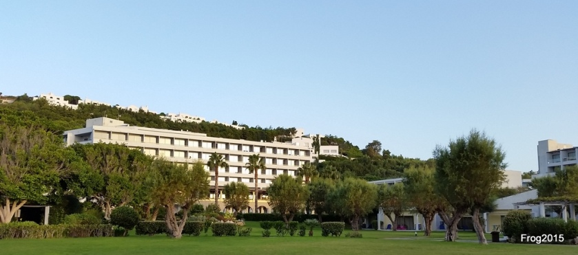 The hotel from the grounds