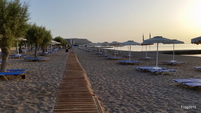 boardwalk that ran from Falaraki to the hotel
