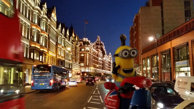 And Harrods.. at night!